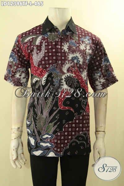 Sedia Kemeja Lengan Pendek Batik Solo Kwalitas Premium Motif Bagus Yang Menunjang Penampilan Pria Lebih Gagah Berkelas [LD12396TF-L]