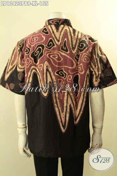 Kemeja Batik Modern Dengan Motif Trendy Dan Paduan Warna Elegan, Baju Batik Pria Dewasa Nan Istimewa Cocok Untuk Seragam Kerja Kantoran [LD12423PB-XL]