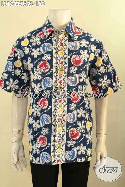 Koleksi Terkini Baju Batik Pria Lengan Pendek Halus Kwalitas Bagus Dengan Harga Terjangkau, Pas Untuk Hangout Maupun Kerja [LD12437C-XL]