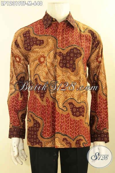 Kemeja Batik Exclusive Model Lengan Panjang Nan Mewah, Busana Batik Tulis Lasem Full Furing Yang Bikin Penampilan Lebih Sempurna [LP12319TF-M]