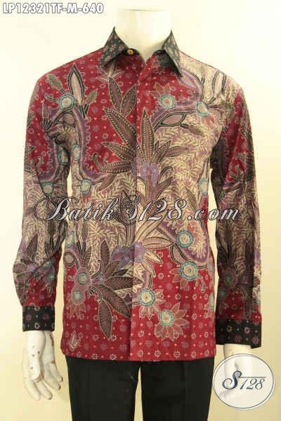 Sedia Kemeja Batik Tulis Lasem Nan Mewah Dan Berkelas, Busana Batik Lengan Panjang Premium Di Lengkapi Lapisan Furing, Menunjang penampilan Pria Sukses Lebih Sempurna [LP12321TF-M]