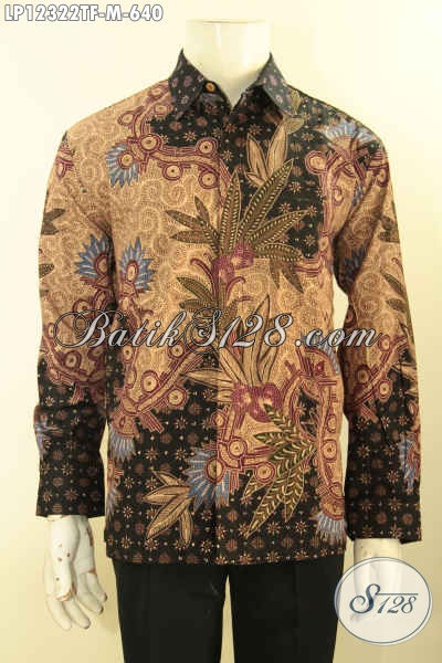Jual Kemeja Batik Kerja Lengan Panjang Mewah Full Furing, Pakaian Batik Tulis Lasem Nan Istimewa Motif Elegan, Cocok Juga Untuk Kondangan [LP12322TF-M]