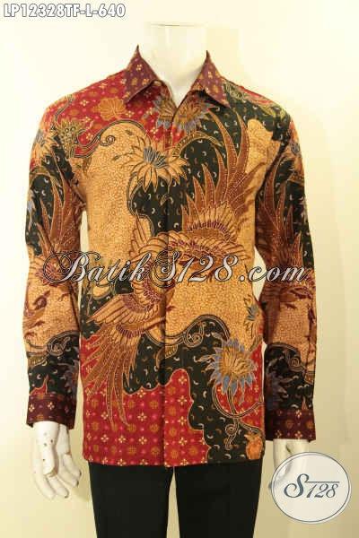 Produk Busana Batik Lengan Panjang Motif Terbaru, Kemeja Batik Mewah Tulis Lasem Pakai Furing, Tampil Gagah Dan Mewah [LP12328TF-L]