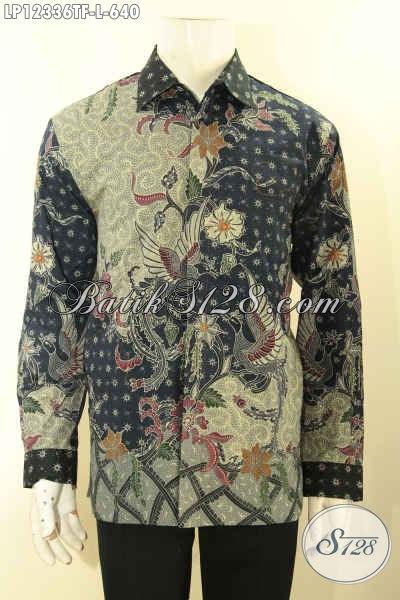 Toko Busana Batik Online Paling Lengkap Dan Up To Date, Jual Baju Batik Lengan Panjang Mewah Pakai Furing Bahan Halus Motif Terkini, Pilihan Paran Pejabat Dan Eksekutif Tampil Berkelas [LP12336TF-L]