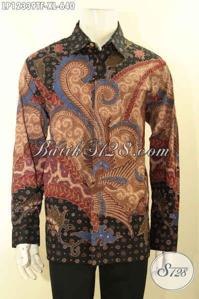 Busana Batik Premium Nan Istimewa Jenis Tulis Lasem Model Lengan Panjang Full Furing, Istimewa Untuk Acara Resmi Dan Busana Ke Kondangan Tampil Percaya Diri [LP12339TF-XL]