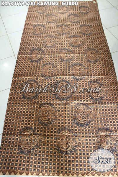 Batik Kain Mewah Motif Kawung Gurdo, Batik Halus Jenis Tulis Soga Premium Dengan Pewarna Alami Hanya 700K [K3580TS-240x105cm]