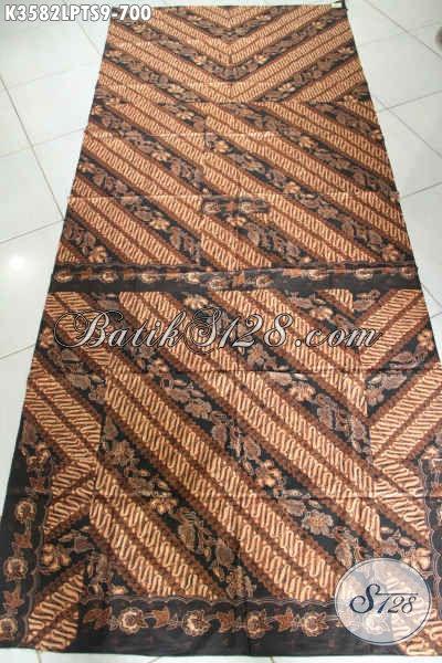 Bahan Kain Batik Tulis Pola Kemeja, Batik Halus Jenis Tulis Soga Motif Klasik Khas Solo Jawa Tengah, Pas Banget Untuk Busana Resmi [K3582TS-240x105cm]