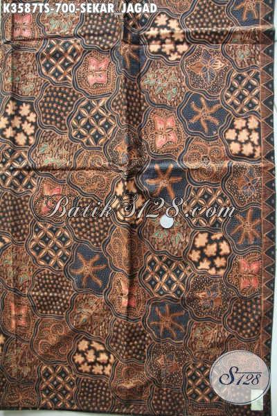 Produk Kain Batik Premium Terbaru, Hadir Dengan Motif Klasik Sekarjagad Khas Jawa Tengah Proses Tulis Soga, Cocok Untuk Busana Formal Wanita Maupun Pria [K3587TS-240x105cm]