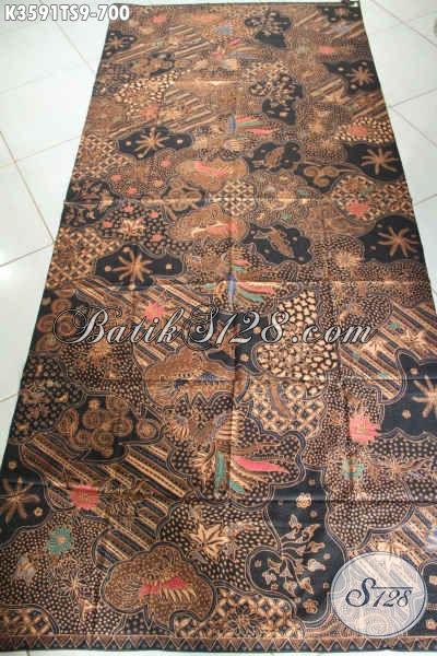 Toko Batik Online Dengan Koleksi Terlengkap Dan Up To Date, Sedia Kain Batik Tulis Soga Premium Motif  Bagus Bahan Aneka Busana Resmi [K3591TS-240x105cm]