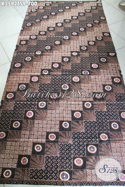 Produk Kain Batik Jawa Tengah Terbaru, Hadir Dengan Motif Bagus Dan Kekinian Warna Elegan Proses Tulis Soga, Batik Solo Premium Bahan Busana Mewah Dan Berkelas [K3592TS-240x105cm]