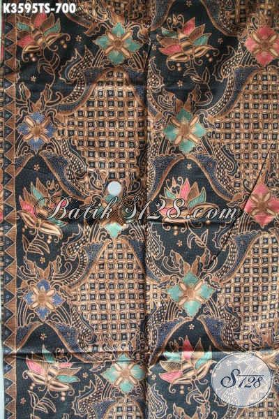 Koleksi Terbaru Kain Batik Tulis Soga Motif Mewah Tren Masa Kini, Batik Solo Halus Dan Istimewa Bahan Busana Kondangan Dan Acara Resmi Hanya 700K [k3595TS-240x105cm]