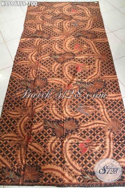 Jual Kain Batik Premium Khas Jawa Tengah, Batik Istimewa Motif Klasik Proses Tulis Soga Nan Elegan, Pas Banget Untuk Baju Formal Dan Acara Pernikahan [K3596TS-240x105cm]