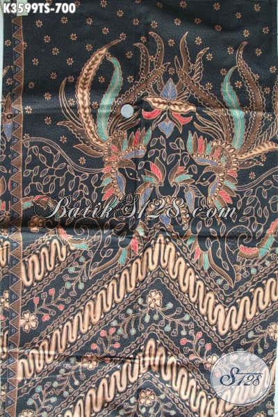 Batik Kain Premium Khas Jawa Tengah, Batik Solo Istimewa Motif Elegan Klasik Jenis Tulis Soga, Bisa Untuk Baju Casual Maupun Formal [K3599TS-240x105cm]