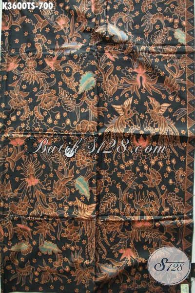 Bahan Kain Batik Tulis Buatan Solo Motif Elegan, Batik Tulis Soga Mewah Bahan Aneka Busana Berkelas Cocok Untuk Acara Resmi Maupun Santai [K3600TS-240x105cm]
