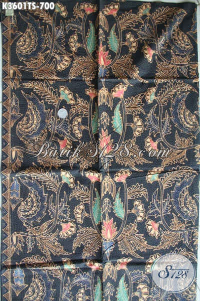 Olshop Batik Khas Solo Terlengkap, Jual Kain Batik Premium Jenis Tulis Soga Motif Mewah, Batik Halus Bahan Busana Wanita Dan Pria Menunjang Penampilan Lebih Sempurna [K3601TS-240x105cm]