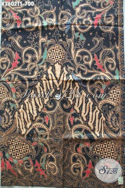 Kain Batik Tulis Soga Motif Baru Nan Elegan Dan Mewah, Batik Solo Bahan Busa Formal Nan Berkelas Dengan Harga Terjangkau [K3602TS-240x105cm]