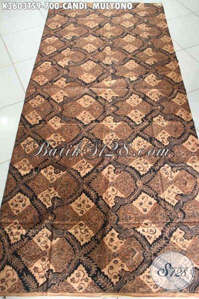 Jual Produk Kain Batik Klasik Tulis Soga, Batik Halus Khas Jawa Tengah Motif Candi Mulyono Istimewa Untuk Busana Formal Wanita Pria Tampil Elegan Dan Berkelas [K3603TS-240x105cm]