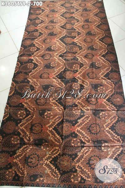Batik Kain Khas Jawa Tengah Nan Istimewa, Batik Premium Jenis Tulis Soga Bahan Busana Mewah Wanita Maupun Pria, Cocok Untuk Acara Resmi Dan Ke Pernikahan [K3605TS-240x105cm]