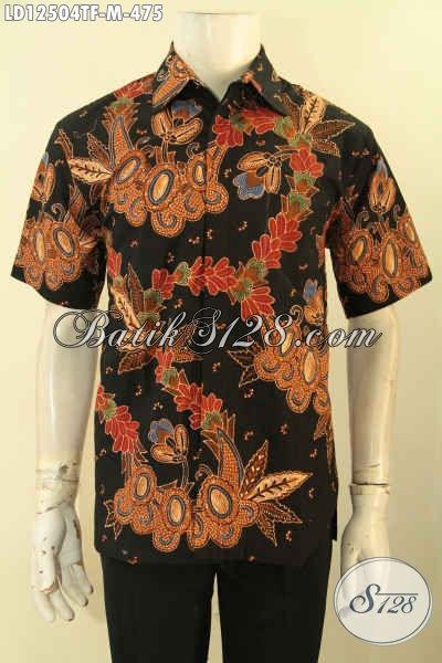 Kemeja Batik Kerja Lengan Pendek Jenis Tulis Motif Terbaru, Baju Batik Pria Muda Daleman Full Furing Bikin Penampilan Terlihat Gagah Mempesona [LD12504TF-M]