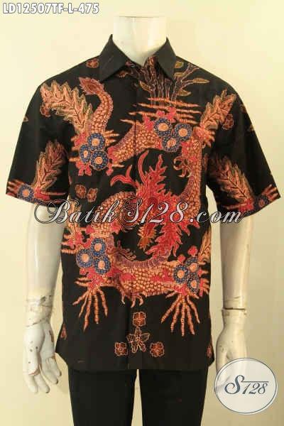 Batik Kemeja Pria Lengan Pendek Kwalitas Premium, Busana Batik Halus Motif Terkini Proses Tulis Daleman Full Furing, Pas Untuk Acara Resmi [LD12507TF-L]