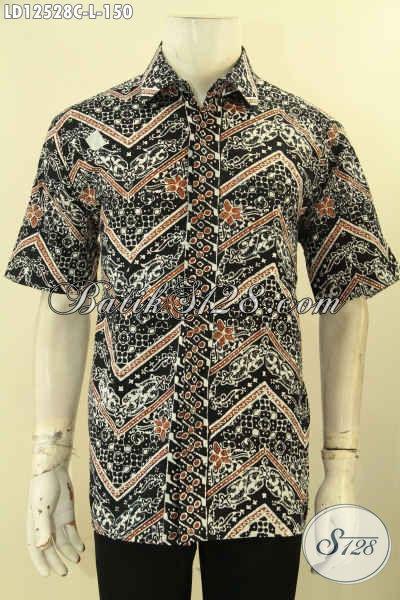 Koleksi Busana Batik Motif Terkini Nan Elegan Dan Berkelas, Baju Batik Kemeja Lengan Pendek Yang Membuat Pria Tampil Lebih Gagah Mempesona [LD12528C-L]