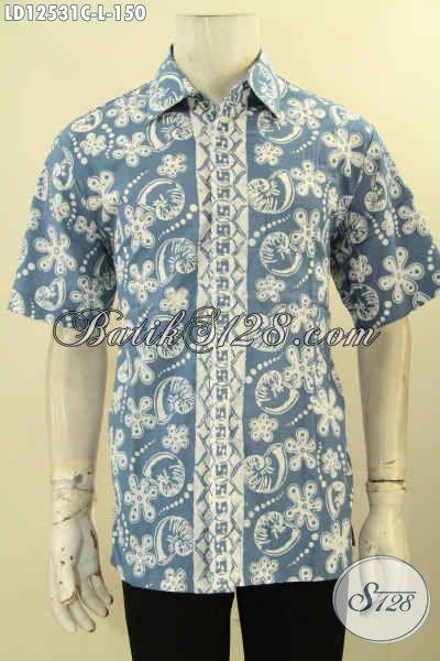 Baju Batik Modern Lengan Pendek Untuk Pria Muda Dan Dewasa, Kemeja Batik Modis Khas Solo Jawa Tengah, Pilihan Tepat Untuk Kerja Dan Acara Resmi [LD12531C-L]