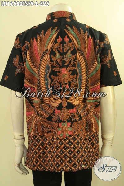Model Baju Batik Pria Terbaru Lengan Pendek Mewah Pakai Furing, Busana Batik Istimewa Jenis Tulis Motif Terbaru, Cocok Untuk Acara Santai Maupun Resmi [LD12580TSF-L]