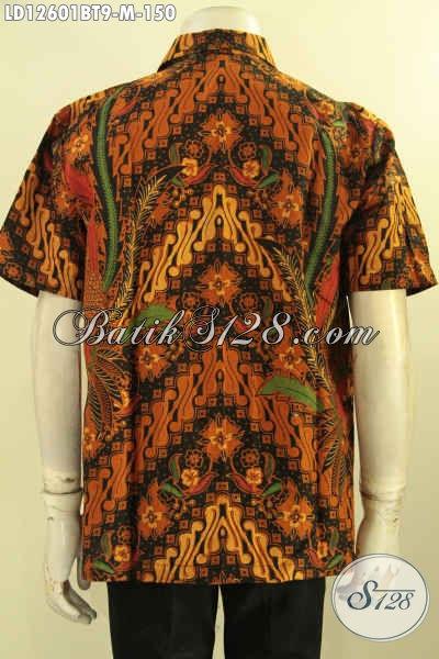 Baju Batik Kerja Pria Model Lengan Pendek, Hadir Dengan Motif Elegan Proses Kombinasi Tulis Kwalitas Istimewa Hanya 100 Ribuan Saja [LD12601BT-M]