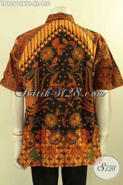 Baju Batik Pria Kombinasi Tulis Kwalitas Bagus Harga Murah, Kemeja Batik Lengan Pendek Khas Solo Untuk Acara Resmi Dan Santai Tampil Gagah Dan Tampan [LD12612BT-XL]