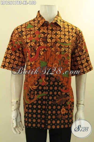 Produk Terbaru Baju Batik Pria Khas Jawa Tengah, Hem Batik Modis Motif Elegan Kombinasi Tulis Yang Menunjang Penampilan Lebih Gagah Dan Tampan [LD12617BT-XL]