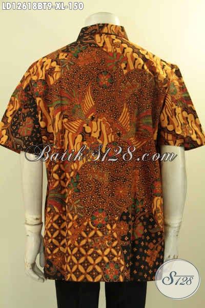 Kemeja Batik Solo Modern Kwalitas Bagus Dengan Harga Murah Meriah, Hem Batik Pria Untuk Kerja Maupun Acara Resmi Bikin Penampilan Gagah Dan Modis [LD12618BT-XL]