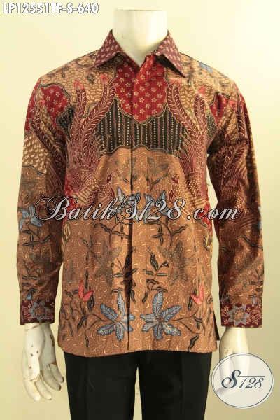 Koleksi Terbaik Baju Batik Pria Lengan Panjang Khas Solo, Busana Batik Istimewa Motif Bagus Daleman Full Furing, Pilihan Tepat Untuk Tampil Sempurna [LP12551TF-S]