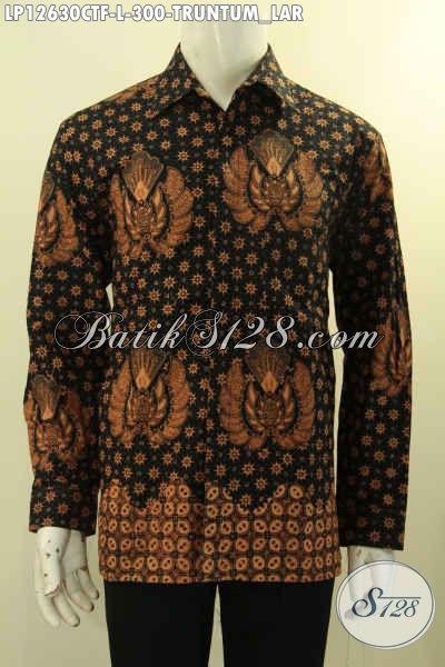 Produk Baju Batik Istimewa Untuk Pria Muda Maupun Dewasa, Kemeja Lengan Panjang Full Furing Motif Truntum Lar Hanya 300 Ribu Saja [LP12630CTF-L]