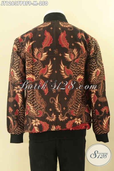 Koleksi Terkini Jaket Batik Solo Kwalitas Istimewa Motif Bagus Jenis Print Cabut, Jaket Bomber Kekinian Yang Di Sukai Kawula Muda Masa Kini [JT12637PBF-M]