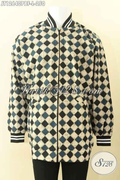 Jual Jaket Batik Istimewa Khas Jawa Tengah, Produk Jaket Bomber Batik Kwalitas Bagus Di Lengkapi Daleman Furing Dormeuil Untuk Penampilan Lebih Berkelas [JT12640PBF-L]