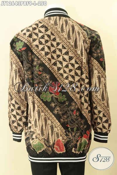 Produk Jaket Batik Motif Terbaru, Koleksi Jaket Bomber Batik Solo Kwalitas Premium Daleman Full Furing Dormeuil Yang Biasa Di Pakai Untuk Jas [JT12643PBF-L]
