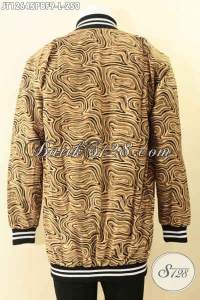 Jaket Batik Halus Model Bomber Asli Buatan Solo Jawa Tengah, Hadir Dengan Motif Elegan Pakai Furing Dormeuil Nan Mewah, Di Jual Online 250K [JT12645PBF-L]
