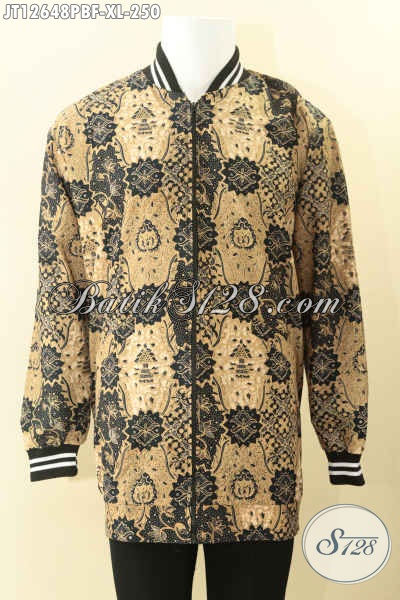 Toko Busana Batik Online Terlengkap, Jual Jaket Batik Model Bomber Kwalitas Istimewa Motif Bagus Daleman Full Furing Dormeuil Hanya 200 Ribuan Saja [JT12648PBF-XL]