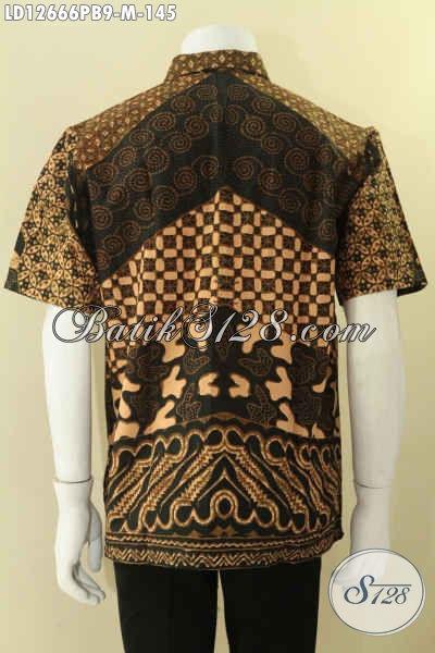 Kemeja Batik Pria Lengan Pendek Modern Motif Elegan Pas Untuk Kerja Kantoran [LD12666PB-M]