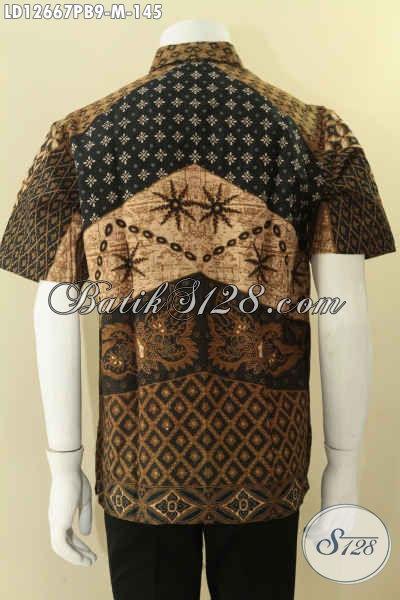 Kemeja Batik Lengan Pendek Motif Terbaru, Baju Batik Solo Nan Elegan Bahan Halus Yang Nyaman Di Pakai Kerja Maupun Acara Resmi [LD12667PB-M]