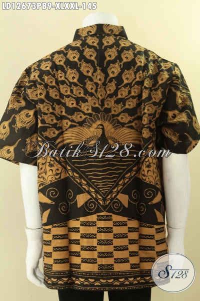 Produk Baju Batik Kerja Pria Terbaru, Hadir Dengan Motif Elegan Jenis Print Khas Jawa Tengah Model Lengan Pendek, Pilihan Tepat Untuk Tampil Gagah Dan Keren [LD12673PB-XL , XXL]