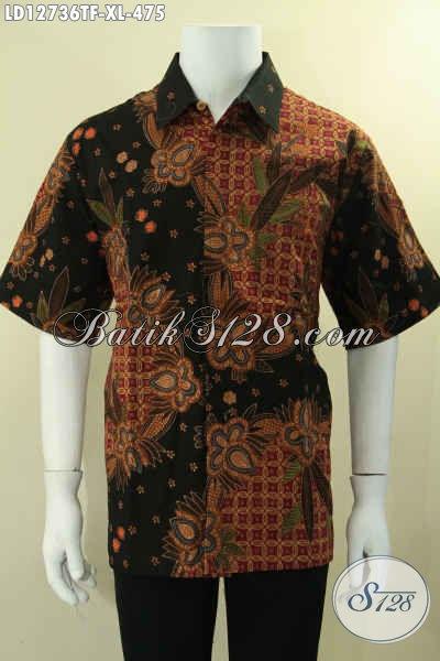 Kemeja Batik Lengan Pendek Premium Daleman Pakai Furing, Baju Batik Pria Nan Istimewa Asli Buatan Solo Jenis Tulis, Tampil Gagah Dan Percaya Diri [LD12736TF-XL]