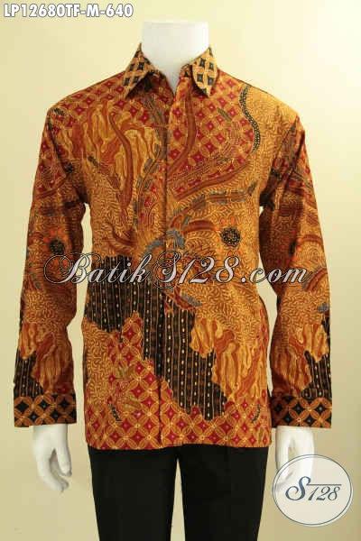 Kemeja Batik Pria Mewah Tulis Asli Model Lengan Panjang Pakai Furing, Busana Batik Istimewa Yang Menunjang Penampilan Makin Sempurna [LP12680TF-M]