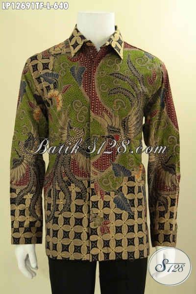 Jual Koleksi Baju Batik Premium Khas Solo, Kemeja Batik Tulis Istimewa Motif Terbaru Model Lengan Panjang Full Furing, Cocok Untuk Acara Resmi Dan Rapat [LP12691TF-L]