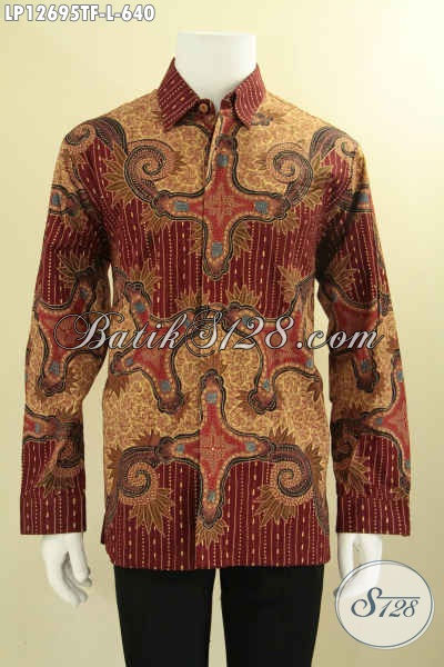 Busana Batik Premium Lengan Panjang Jenis Tulis, Kemeja Batik Istimewa Nan Berkelas Yang Di Lengkapi Lapisan Furing Sehingga Berkesan Eksklusif [LP12695TF-L]