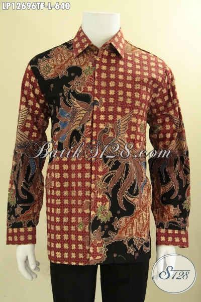 Kemeja Batik Premium Terbaru, Busana Batik Tulis Lengan Panjang Motif Bagus Berpadu Dengan Bahan Halus Yang Nyaman Di Pakai Serta Daleman Full Furing [LP12696TF-L]