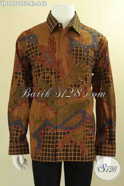 Juragan Baju Batik Online Terlengkap, Sedia Kemeja Lengan Panjang Batik Tulis Motif Mewah Daleman Full Furing, Pilihan Terbaik Tampil Berkelas [LP12700TF-XL]