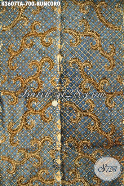 Jual Kain Batik Premium Jenis Tulis Warna Alam, Batik Klasik Nan Istimewa Khas Solo Jawa Tengah Motif Kuncoro, Cocok Untuk Busana Pejabat Dan Eksekutif [K3607TA-240x110cm]