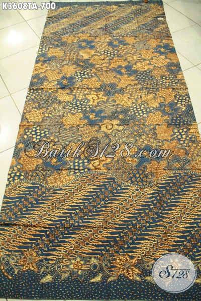 Toko Batik Online Terlengkap Jual Kain Batik Premium Khas Solo Jawa Tengah Motif Elegan Jenis Tulis Warna Alam, Kwalitas Istimewa Pas Untuk Baju Resmi Wanita Maupuan Pria [K3608TA-240x110cm]