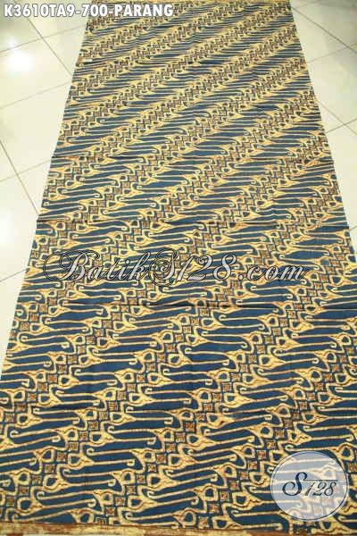 Koleksi Terbaru Kain Batik Solo Mewah Jenis Tulis Warna Alam, Hadir Dengan Motif Parang Klasik Nan Elegan, Bisa Untuk Busana Kerja Maupun Baju Resmi Lainnya [K3610TA-240x110cm]